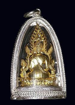 REAL! Phra Chinnaraj jomrachan wat Yai be. 2555, Thai Buddha Amulets, Silver case