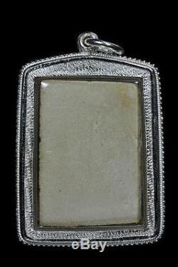 REAL Phra Somdej Lp Toh Wat Rakang Buddha 1952 Thai Original Amulet Silver case