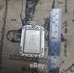 REAL Phra Somdej Lp Toh Wat Rakang Buddha Thai Original Amulet Silver case 74 Yr