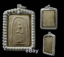 REAL Phra Somdej Lp Toh Wat Rakang Buddha Thai Original Amulet in Silver case