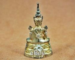 bf242e0d2 Real Siver Thai Emperor Amulet The Emerald Buddha Phra Keaw Morakot, Fortune