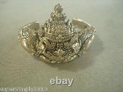 Rahu Thai Amulet Buddha Talisman Rich Wealth Magic Lucky Bangle Bracelet