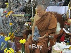 Rare! 629g. Natural Pure Leklai LP Somphon Powerful Magic Thai Old Buddha Amulet