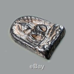 Rare Ancient Buddha Phra Sumkor Old Thai Amulet Magig Buddha Real Lucky Pendant