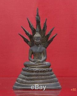 Rare Antique Naga Buddha Thai Statue Relic Southeast Asia Genuine