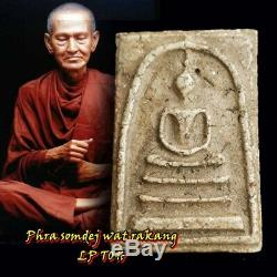 Rare Antique Phra Somdej Lp Toh Wat Rakang Pim Yai Thai Amulet Buddha Pendant