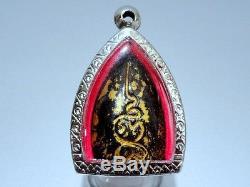 Rare Antique Thai Magic Amulet Black Lp Boon Buddha Necklace Pendant Lucky Brand