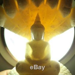 Rare Buddha Naga Prok Core Stone Relics 300 Yod Thai Amulet