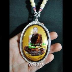 Rare Holy Photo Master Yant Takrud Kuba Dhamamunee Pendant Thai Buddha Amulet