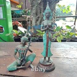 Rare Magnificent Statues Guardian Angel Theppanom Thai Buddha Amulet Collectible