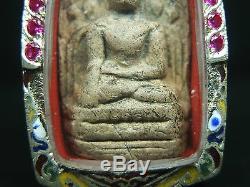 Rare Old Antique Phra Kong Lamphun Kru Wat Mahawan Thai buddha amulet