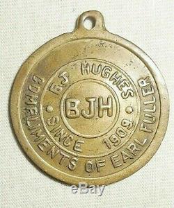 Rare Old Medal Brass Coin Buddha Vintage Large Wat Thai Thailand Precious BJH