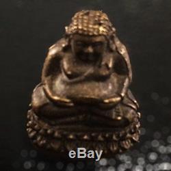 Rare Old Phra Sangkajai LP Tim Wat Lahanrai Thai Buddha Amulet Luck Rich Protect