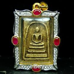 Rare Old Phra Somdej Toh Wat Rakhang Thai Buddha amulet Top 5. #2