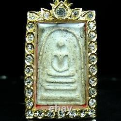 Rare Old Phra Somdej Wat Rakang, Thai Buddha Amule, Real Micron casing. #