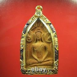 Rare Old Pra Khun Phan wat banklang Supanburi, thai buddha amulet & Card