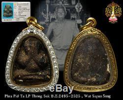 Rare PHRA PIDTA LP Thongsuk B. E. 2495-2525 Wat Saphan Sung Thai Buddha