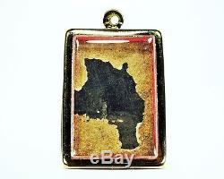 Rare Pendant Thai Amulet Phra Somdej Wat Ketchaiyo And Gilded Buddha Sacred Old