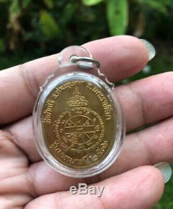 Rare! Phra LP Koon Wat Banrai Stamp coin Old Thai Amulet Buddha Protect Life Real