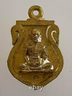 Rare Phra Lp Ruay BE 2556 Thai Buddha Amulet Rich Coin Holy Lucky Magic Pendant