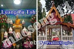 Rare Phra Pidta Lp Toh Pim Jumbo-2 Luck Wealth Thai Buddha Amulet Old Thailand