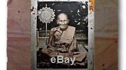Rare! Phra Pong LP Suk Wat Pakklongmakhamtoa BE2536 Old Thai Buddha Antique #1