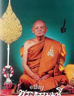 Rare! Phra Somdej Rainbow Golden 4Takrut LP Pae Wat Pikulthong Thai Amulet Buddha
