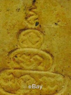 Rare! Phra Somdej, Yantra Pakkawam, Old Talisman, Thai buddha Amulet, Holy, HOT
