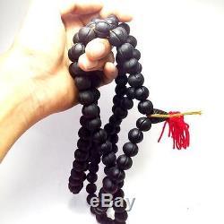 Rare Real Pure Lek Lai Nam Pee Iron Rosary 108 Bead Thai Buddha Amulet Wealth