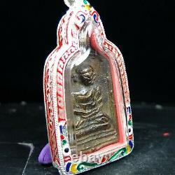 Rare, Rian Job LP Plai Wat Kampaeng& Certificate card. Thai buddha amulet