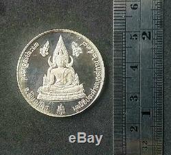 Rare! Silver Thai Buddha amulet Phra Chinnaraj By LP Koon Wat Banrai Be. 2538