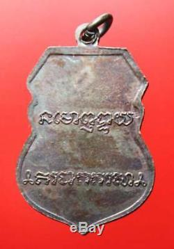 Rare! Stamp Coin LP Derm Wat Nongpoh BE29 Old Thai Amulet Buddha Antique Real
