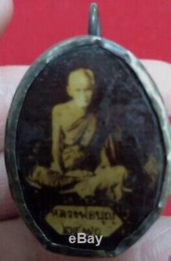 Rare Thai Amulet Buddha LP Boon Phra Magic Wat Luck Rich Pendant Powerful