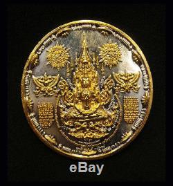 Rare Thai Amulet Holy Buddha Alien UFO 1st coin Power lucky, prosper Aj Mom No. 3