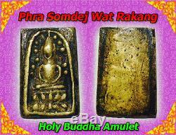 Rare! Thai Buddha Amulet, SOMDEJ, Phra Somdej Wat Rakang, Old Talisman, Holy HOT
