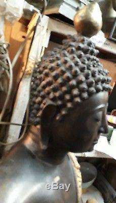 Rare Thai Buddha Sitting Statue Bronze