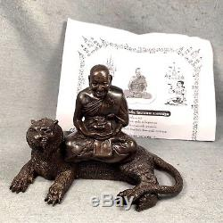 Real 4.5 Tiger Phra LP Pern Coin Buddha Thai Amulet Statue Talisman Luck Good