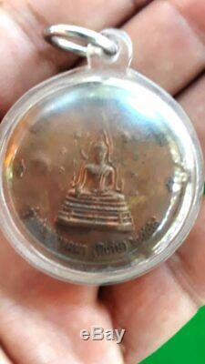 Real LP Paew Thai Magic Amulet Buddha Powerful lucky Talisman Pendant BE. 2548