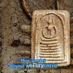 Real LP TOH Thai Buddha Amulet Phra Somdej Wat GESCHIYO For Best Lucky Pendant