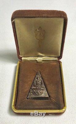 Real Phra Somdej Jitlada For Army Original Box Thai Amulet Buddha Old Necklace
