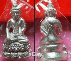 Real Silver Beautiful Phra Kring Statue Phra Maha Surasak Thai Buddha Amulet