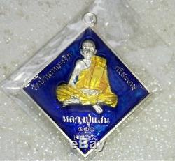 Real Silver Phra Prom Brahma 4 Faces LP Saen Wat BanNongJik Thai Buddha Amulet