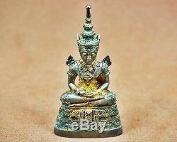 Real Siver Thai Emperor Amulet The Emerald Buddha Phra Keaw Morakot, Fortune