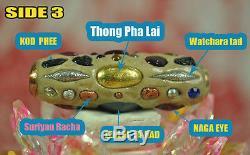 Real Takrud Leklai Palanglokatad 59 TYPE LP Somphon Somporn Thai Buddha Amulet