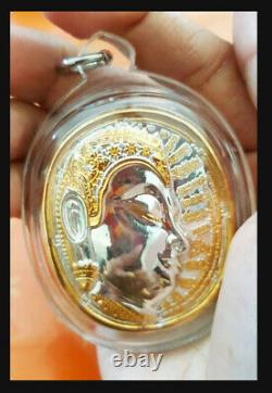 Real Thai Amulet Charming Nimitwichimarn King Buddha coin Blessed of Ajarn Mom