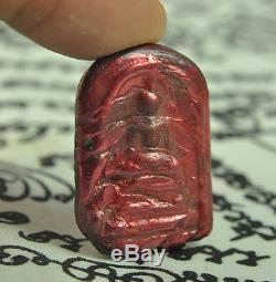 Red Pure LEKLAI SURIYAN RACHA became Phra Somdej wat rakang Thai Buddha Amulet