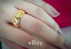 Rings 24K Real Gold Plate 12 Zodiac Buddha Holy Thai Amulet Wealth Good Fortune