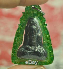 Ruesi Hermit Kod Phee Black LEKLAI Thai Buddha Amulet LP Somporn Lucky wealth