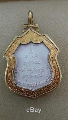 Silver Coins Phra Buddha Sothorn Thai Amulet In 22k Gold Case Sukhothai Enamel