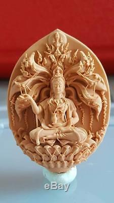 SOLID SILVER 925, THAI BUDDHA AMULET Quan Yin Kwan-yin Guanyin Guan Yin, code